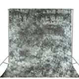 Julius Studio 10 X 20 Ft Hand Painted and Dyed Twilight Muslin Backdrop Background Screen for Photo Video Studio, LIQ120-JSAG (Color: Gray)