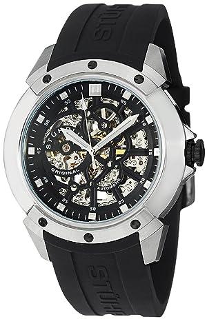 Reloj para caballero correa de goma Negra Stuhrling Original  539,33161 Ocio Gen-X Crucible XT