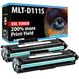 AZ SUPPLIES 2-Pack Toner 3,000 pages each   200% more print yield   Compatible with Samsung MLT-D111S MLT-D111L Black   Extended Yield Toner Cartridges and quality equal to OEM   (Color: Black)