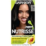 Garnier Nutrisse Nourishing Color Creme Black [10] 1 ea (Color: 10 Black (Licorice), Tamaño: 1 Count)