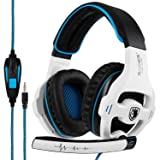 SADES SA810 Xbox one PS4 Stereo Gaming Headset with Mic &Noise Cancelling & Volume Control for New Xbox One/PC/Mac/PS4/Table/Phone (Color: SA810 White)