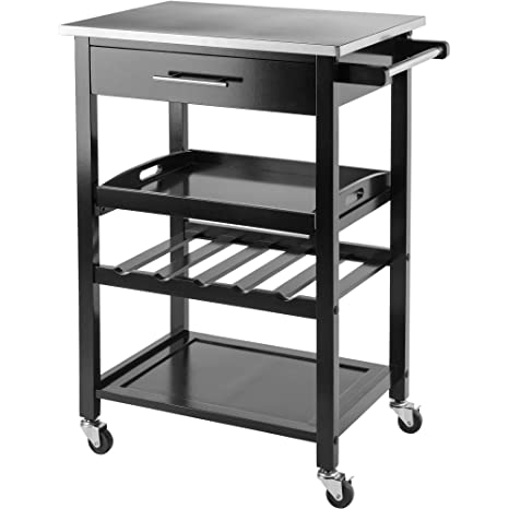 Winsome Anthony Stainless Steel Top Kitchen Cart
