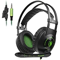 Sades SA801 Over-Ear Stereo Gaming Headset with Microphone Noise Isolation