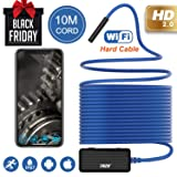 Wireless Endoscope THZY 1200P HD 10m WiFi Borescope Inspection Camera 2.0 Megapixels Snake Camera for Android iOS Smartphone, iPhone, Tablet iPad Blue (Tamaño: 10m)