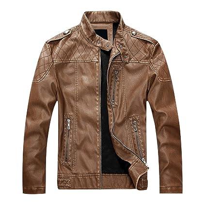 BININBOX@Herren Mantel plus Größe Lederjacke Jacket fashionable Baumwolle Bikejacke Jacke Motorradjacke fur Herbst und Winter