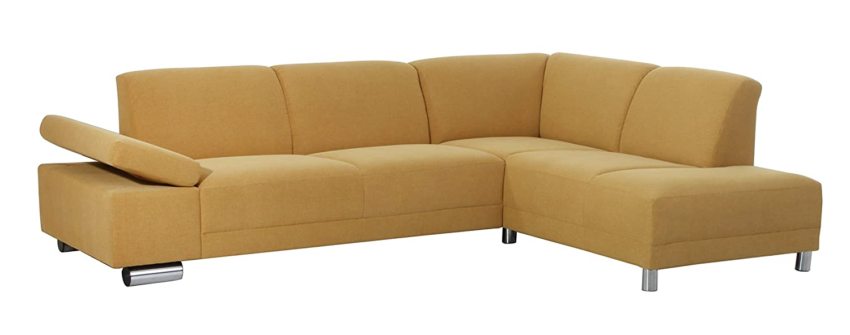 Coolnezz 30228-263-2051666 Sofa 2,5 Sitzer mit Ecksofa rechts Bandit Strukturgewebe, mais
