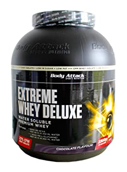 Body Attack Extreme Whey Deluxe Chocolate Cream, 1er Pack (1 x 2,3 kg)
