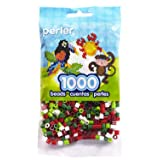 Perler Beads Christmas Mix 2 Bead Bag, 1000 Count (Color: Christmas Mix)