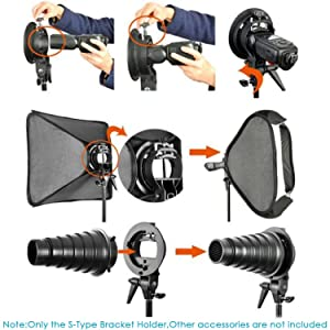 NEEWER PHOTO STUDIO CAJA DE LUZ MULTIFUNCIONAL DE 32X32/80X80CM, con soporte Speedlite tipo S de montaje y estuche para fotografía de retrato o producto