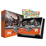 Harley Davidson 2019 Calendar, Box Edition Set - Deluxe 2019 Harley Davidson Day-at-a-Time Calendar with Over 100 Calendar Stickers (Harley Davidson Gifts, Office Supplies) (Color: Harley Davidson)