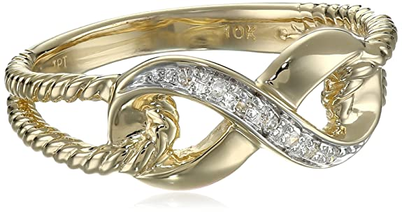 10k-Yellow-Gold-Infinity-Diamond-Ring