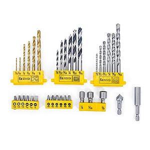 35-Piece Screwdriver Bit Set Combination Drills Set with Tough Case by Werktough E01005