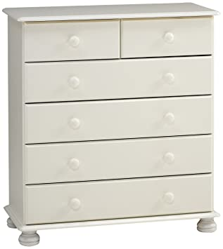 Steens Furniture 3022130050000F/1022130050000N cómoda Richmond, 90 x 82 x 39 cm, madera de pino maciza, blanco