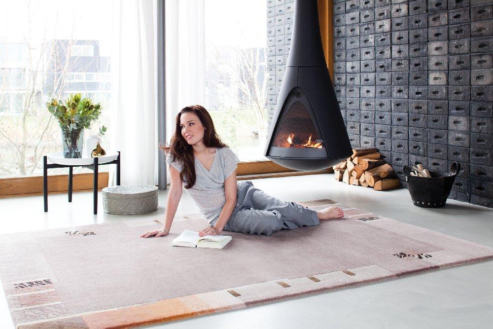 """Luxor Living Nepal Teppich handgeknüpft mauve """"Größe auswählen"""" 70 x 140 cm"""