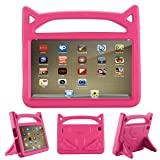 All-New Fire 7 2017 Case,Riaour Kids Shock Proof Protective Cover Case for Amazon Fire 7 Tablet (Compatible with 5th Generation 2015/7th Generation 2017) (Rose) (Color: Rose)