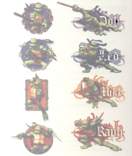 Teenage Mutant Ninja Turtles Movie Collection - Temporary Tattoos ...