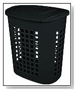 Sterilite 2.3 Bushel Lift-Top Black Plastic Laundry Basket - 4-Pack