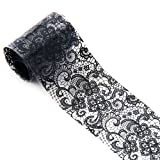 Nail Art Decoration,Chartsea 1Roll 4 X 100 CM Black Lace Starry Sky Design Star Nail Art Foil Stickers Transfer Decal Tips (C) (Color: C, Tamaño: Small)