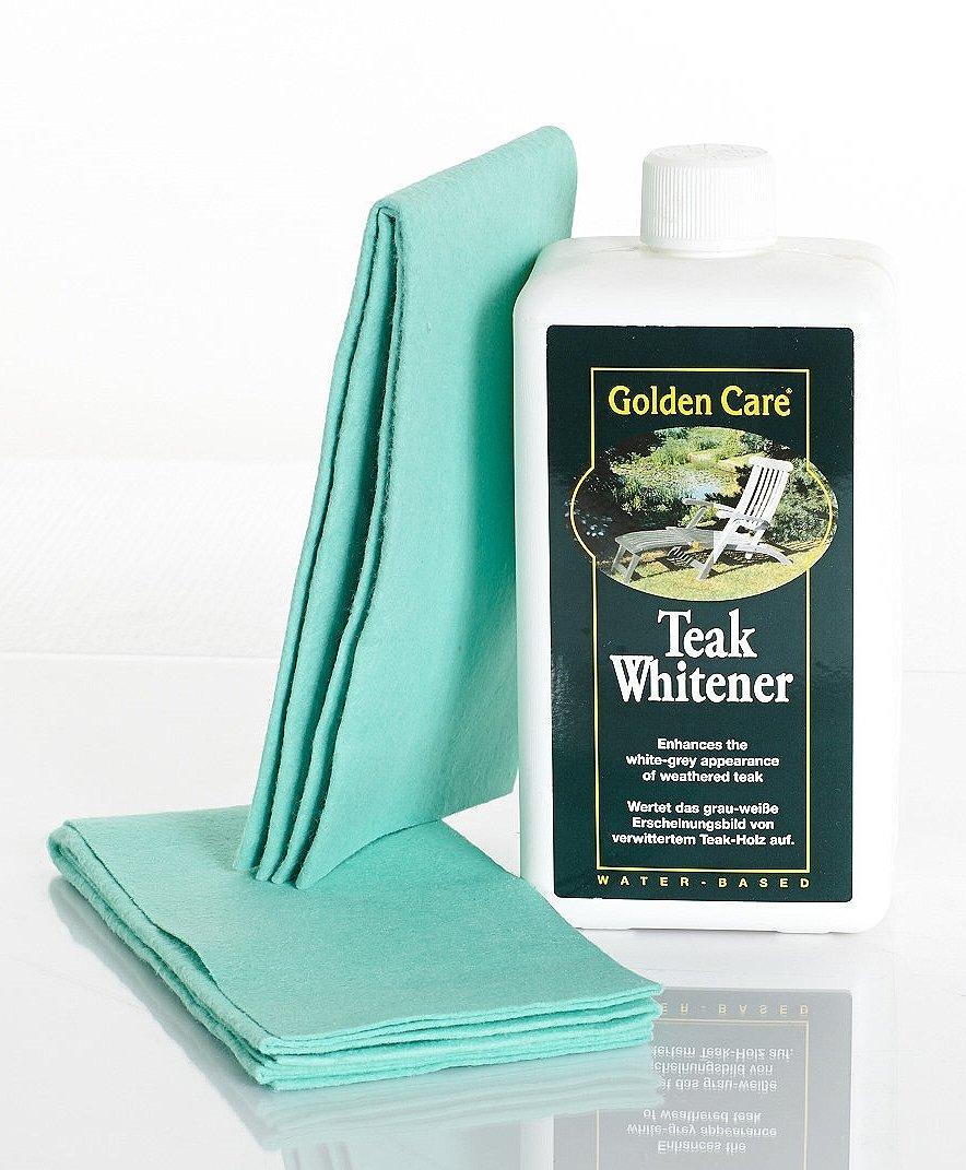GOLDEN CARE Teak Whitener + 2 Applikatortücher Holzschutz Holzpflege für Gartenmöbel günstig bestellen