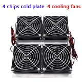 Semiconductor Cooler, 240W 12V Semiconductor Refrigeration Thermoelectric Peltier Cold Plate Cooler with Fan for Test Bench Cooling Flat Product Cooling Pet Bed Cooling