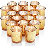 Volens Gold Votive Candle Holders, Mercury Glass Tealight Candle Holder Set of 72 (Color: Gold)