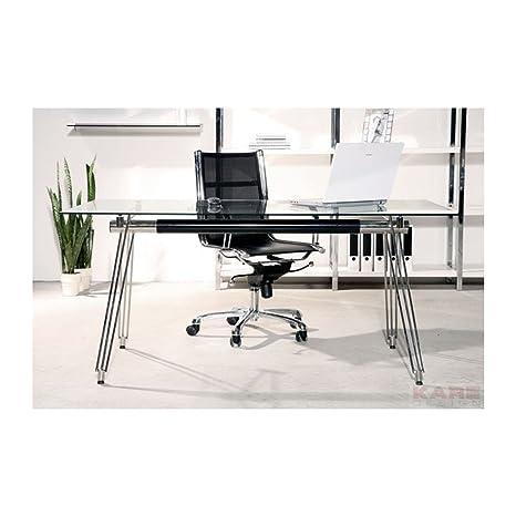 Bureau en verre Officia 160x80 cm Kare Design