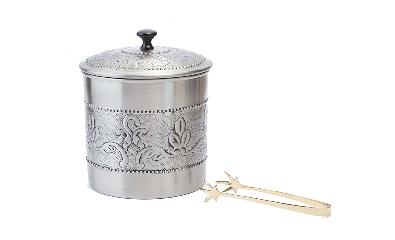 Old Dutch Victoria 3-Piece Ice Bucket with Liner and Tongs, 7 by 9-Inch 0
