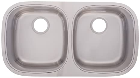 FrankeUSA UDSK900-18 Double Bowl Stainless Steel 31.5x17.5in. Undermount Sink