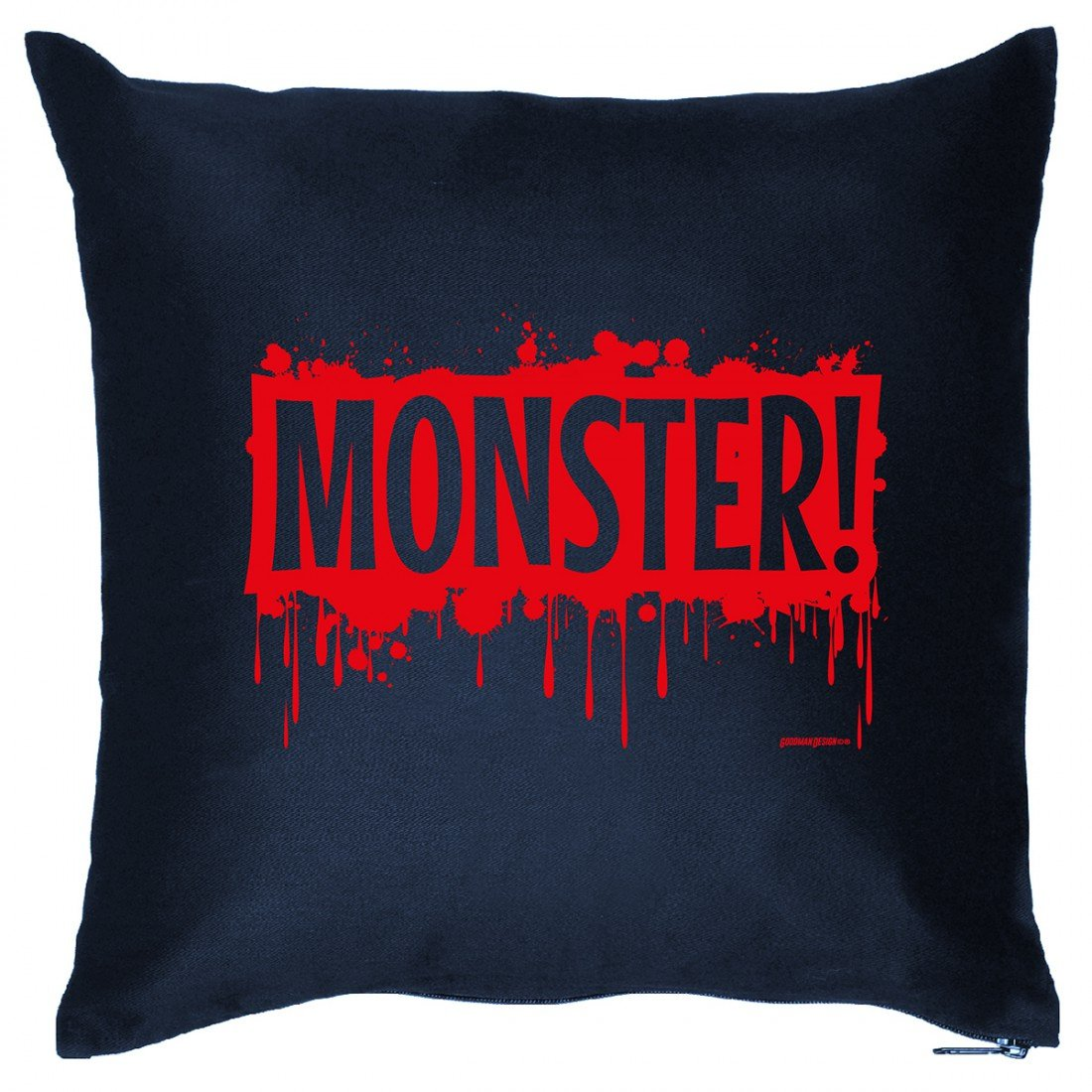Kissen Sofakissen mit Aufdruck – Monster ! – Horror Zombie Hexe Grusel Geister Halloween Geschenk – Wendekissen günstig bestellen
