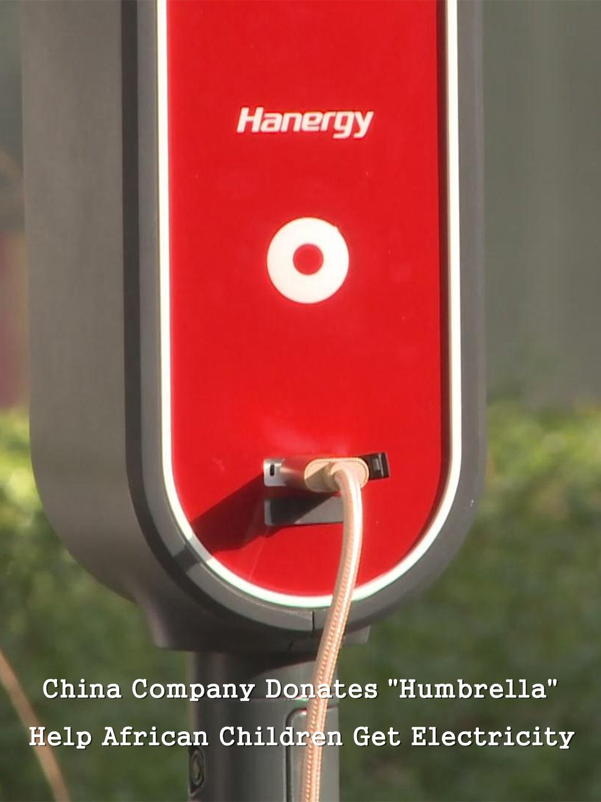 China Company Donates Humbrella to Help African Children Get Electricity