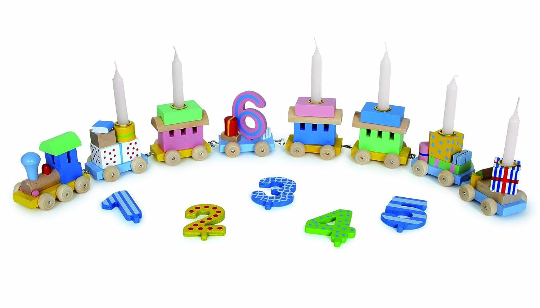 Geburtstag Kindergeburtstag Geburtstagskerzen bunt 10er Set Goki 60860