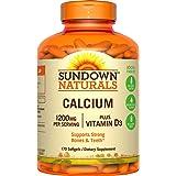 Sundown Naturals Calcium 1200 Plus Vitamin D3 1000 IU, 170 Liquid Filled Softgels (Tamaño: 170 Counts)