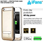 99 Digital iFans [Apple MFi Certified] Juice Pack for iPhone 5/5s Rechargeable Battery Case Back Up Power Bank Charger with Built in Pop out Kickstand [GOLD]