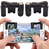 HONTECH 1 pair Mobile Game Fire Button Aim Key Joystick Smartphone Tablet Gaming Knives Out Rules of Survival Game Trigger Button L1/ R1 Shooter Controller PUBG