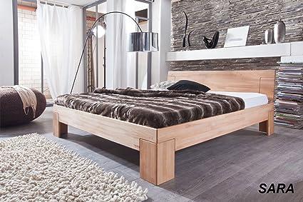 SAM® Massivholz Kernbuche Bett Sienna 160 x 200 cm, geschlossenes Kopfteil, Holzbett aus Buche geölt, Buchenbett in zeitlosem Design fur Ihr Schlafzimmer