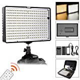FOSITAN Dimmable Bi-Color 336 LED Video Light Including Battery and Charger, CRI 96 3200K-5600K Photography Lighting for Studio Video Shooting (Single Light)