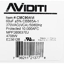 Aviditi 90AVI Capacitor, 60 Microfarad, 370-Volt