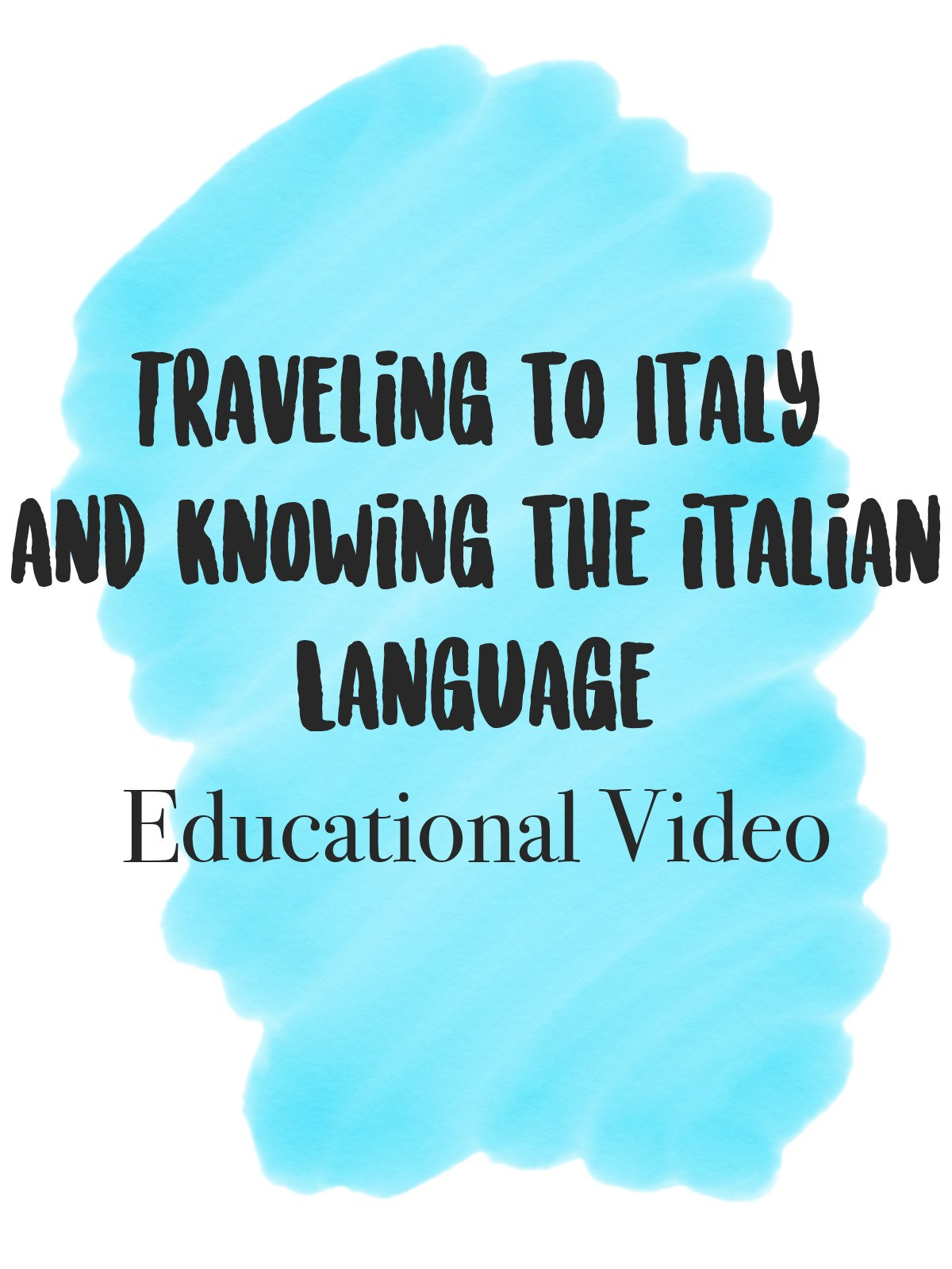 Traveling to Italy and knowing the Italian Language Education Video on Amazon Prime Instant Video UK