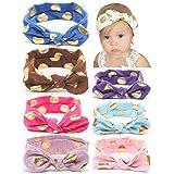 Baby Headbands Girl's Turban Headwrap, QandSweet Toddler Rabbit Ears Hairbands 8 Pack