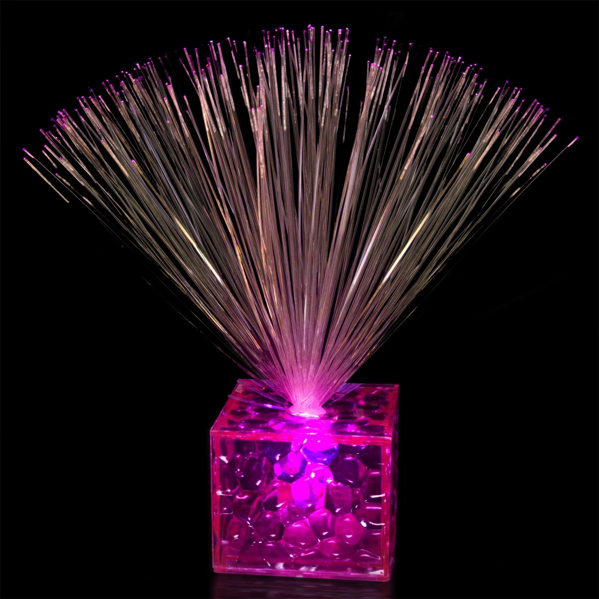 5.5 Light Up Small Pink Fiber Optic Centerpiece m29504 14 4151 [ fiber optic connectors 26 up start 3 wks aro ]