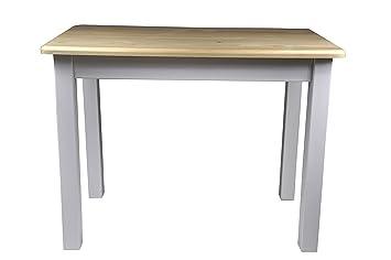 Esstisch Tischgruppe Essgruppe Set mit 2 Stuhle weiß Land Massiv Holz Neu (Kiefer Lackiert)