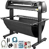 VEVOR Vinyl Cutter 28 inch Vinyl Cutter Machine 720mm Manual Vinyl Printer LCD Display Plotter Cutter Sign Cutting with Signmaster Software (Color: Black, Tamaño: 28 Inch)
