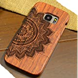 Galaxy Note8 Wooden Case, Very Light Slim Manual Wood Sculture Style Cover, WEIFA 2018 Newest Super Cool 2 In 1 Protection CellPhone Case For Samsung Galaxy Note 8 Lotus Totem (Color: !Lotus, Tamaño: Samsung Galaxy Note8)