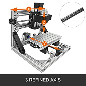 Mophorni CNC Machine 3018 Grbl Control CNC Router Kit 3Axis PCB Laser Engraver 300X180X45mm With 500mW Laser Head Module and Lamp (Tamaño: 300X180mm)
