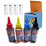 Edible Supply 3.0 oz BK/C/M/Y Edible Refill Bottle Combo Compatible for Canon Printer (Color: Multi, Tamaño: 4x8x4)