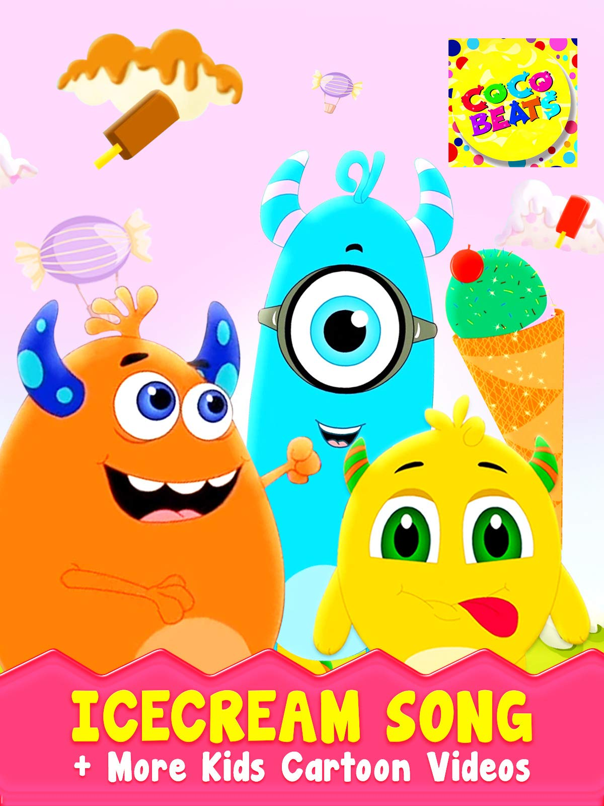 Ice Cream Song + More Kids Cartoons Videos - Coco Beats