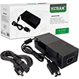 YCCTEAM Xbox One Power Supply Brick, [Newest Quietest Version] AC Adapter Cord Replacement Charger for Xbox One with Cable 100-240V Auto Voltage, Black