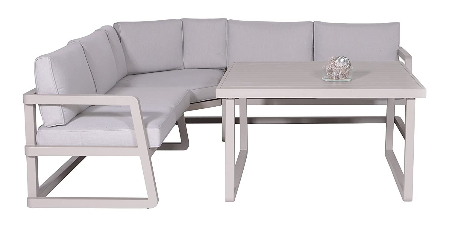 Garden Impressions 10310SO Lounge/Dinner Set, 240 x 240 x 64 cm, Grau