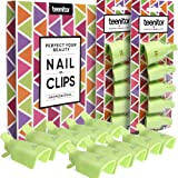 Teenitor Gel Removal Clips, 20 Pieces Reusable Toenail and Finger Nail Gel Polish Remover Set, Gel Nail Polish Remover Clips - Green (Color: Green)