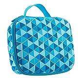 ZIPIT Colorz Big Pencil Case/Pencil Box/Storage Box, Blue (Color: Blue Triangles)